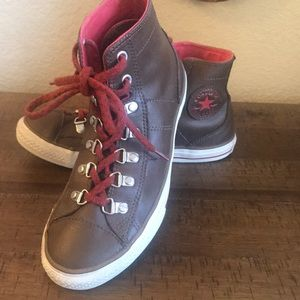 Leather Converse Allstar high tops